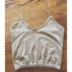 Free People Skinny Strap Brami in Nude Sparkle